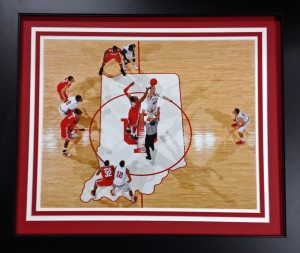 IU Center Court from above 16 x 20