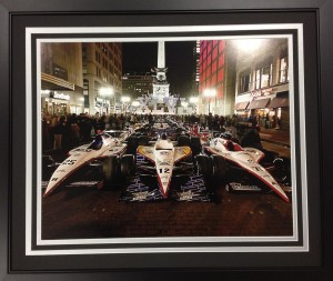 Indy Cars on the Circle-Night Shot