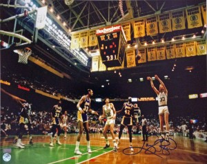 Larry Bird Signed Celtics 16x20
